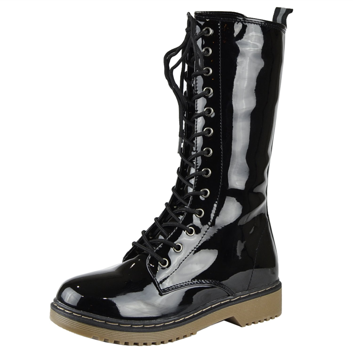 Amazon.com   Womens Mid Calf Boots Accented Ankle Chain Casual Zip ...