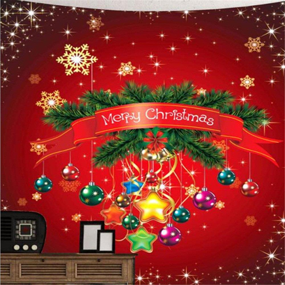 Amazon.com: Merry Christmas/tapestry Christmas wall blanket Printing ...