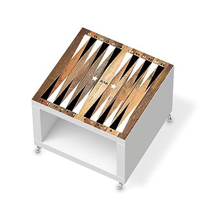 Los muebles-pegatinas de protector de pantalla para IKEA de laca mesa auxiliar con ruedas