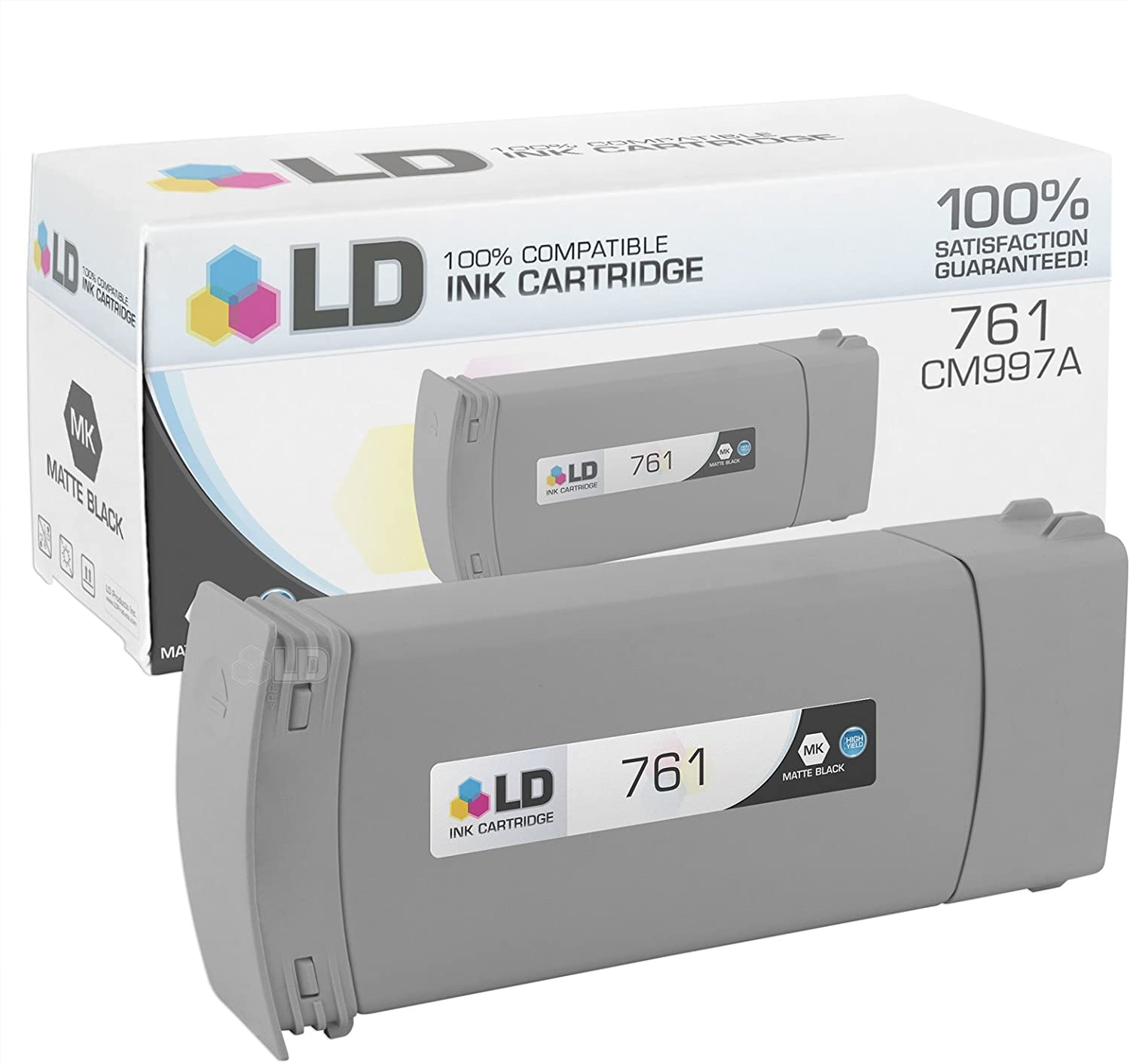 LD Remanufactured Ink Cartridge Replacement for HP 761 CM997A Extra High Yield (Matte Black)
