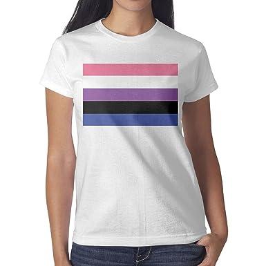 SNB WY Gay Pride Rainbow Flag Design Unique Short Sleeve t Shirt Womens  Design Photo 68a6f1fc99