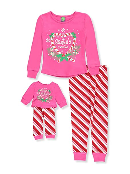Dollie   Me Little Girls  Toddler 2-Piece Pajamas with Doll Outfit - red 5942f83cb