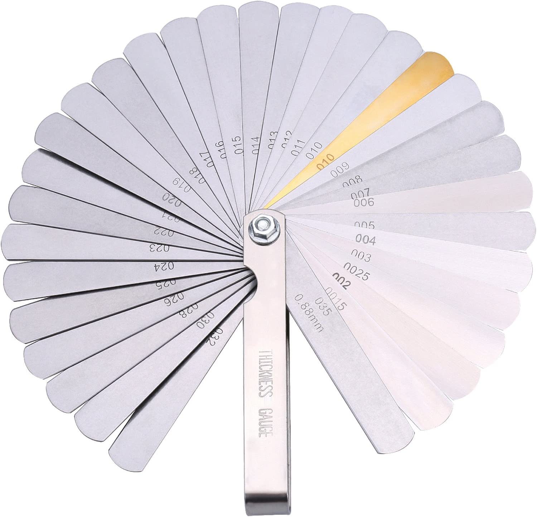 32 cuchillas de acero inoxidable de doble marcación y medidor de presión imperial Gap