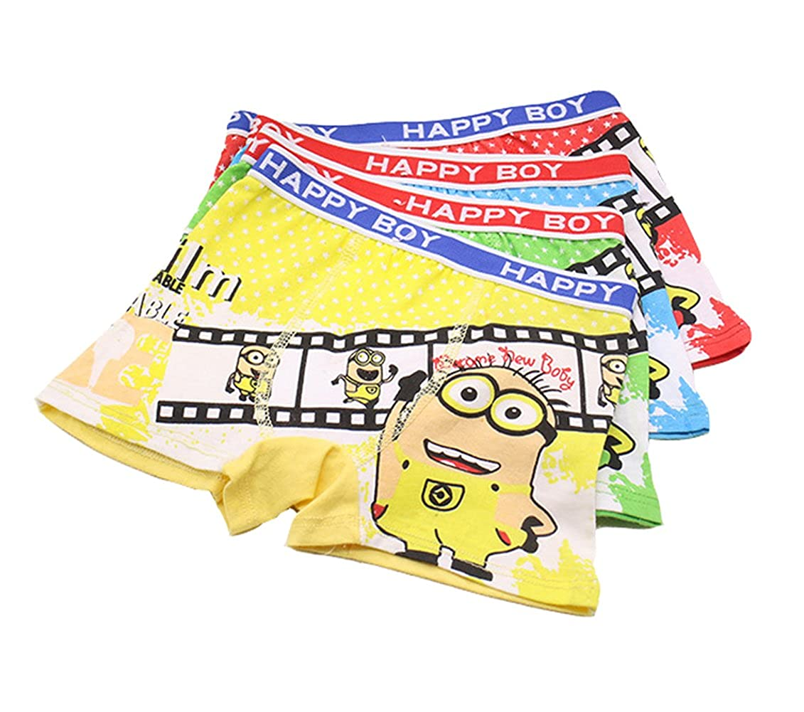 YUMILY 2 8 Years Boys Cartoon Character Underwear Minions Boxer Briefs Training CAETNK1706004