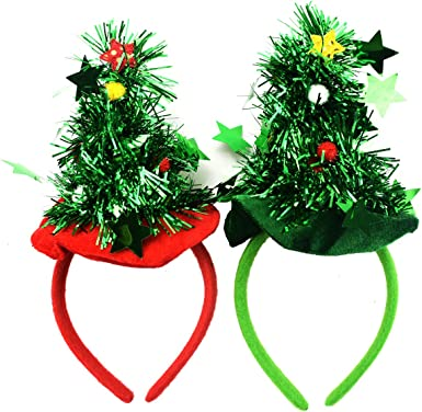 GREEN FESTIVE PRESENT HEADBAND novelty christmas womens ladies fancy dress