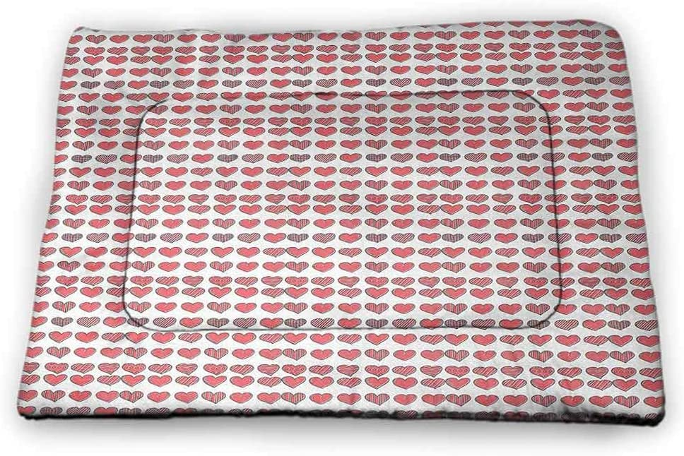 Medium Cat Food Mat I Love You are Not Sticky Recycle Happy Valentines Day Icons in Hand Drawn Style Romance Relationship 31