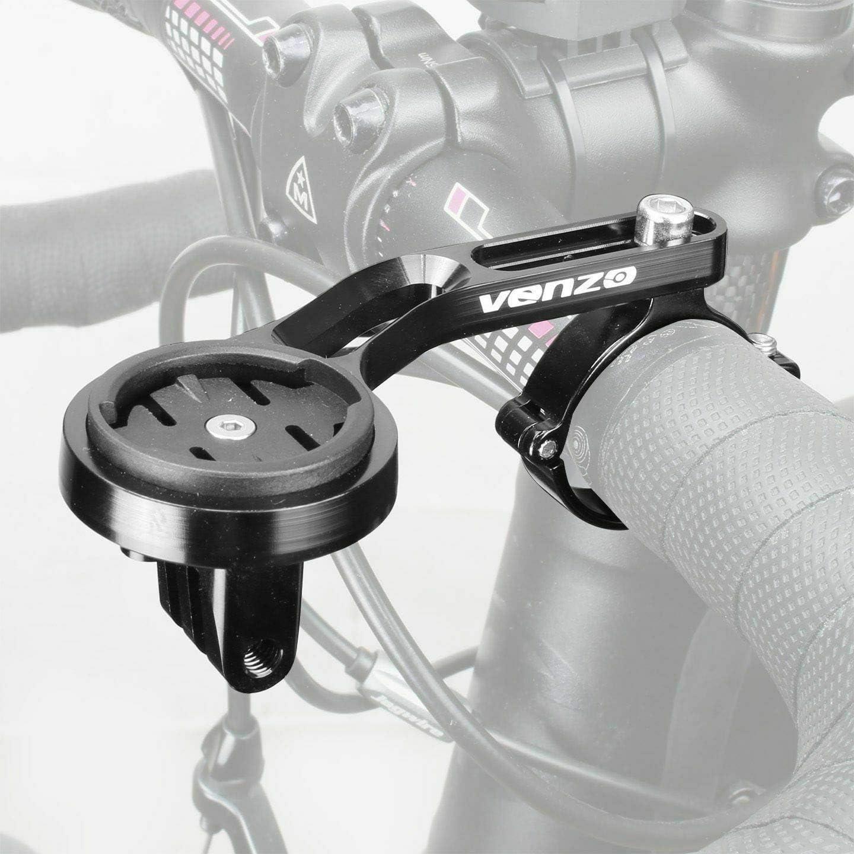 Venzo CNC Alloy Bicycle Bike Handlebar Mount for Garmin Edge and Gopro Computer