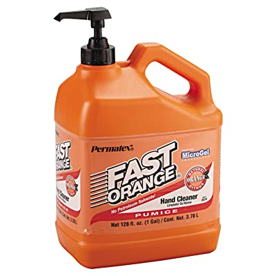 Permatex 25219 Fast Orange Pumice Lotion Hand Cleaners, Citrus, Bottle with Pump, 1 gal: Industrial & Scientific