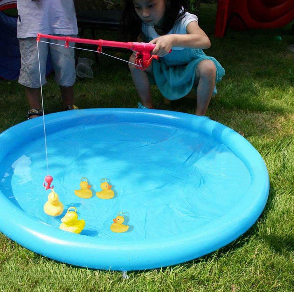 KIKIGAOL Duck Fishing Game with Inflatable Pool