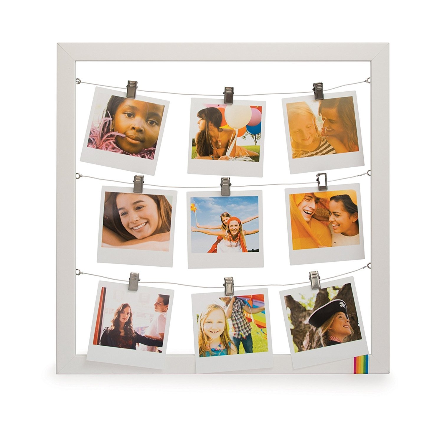 Official Polaroid 9 Hanging Pictures Photo String Frame Complete With Clips 9127