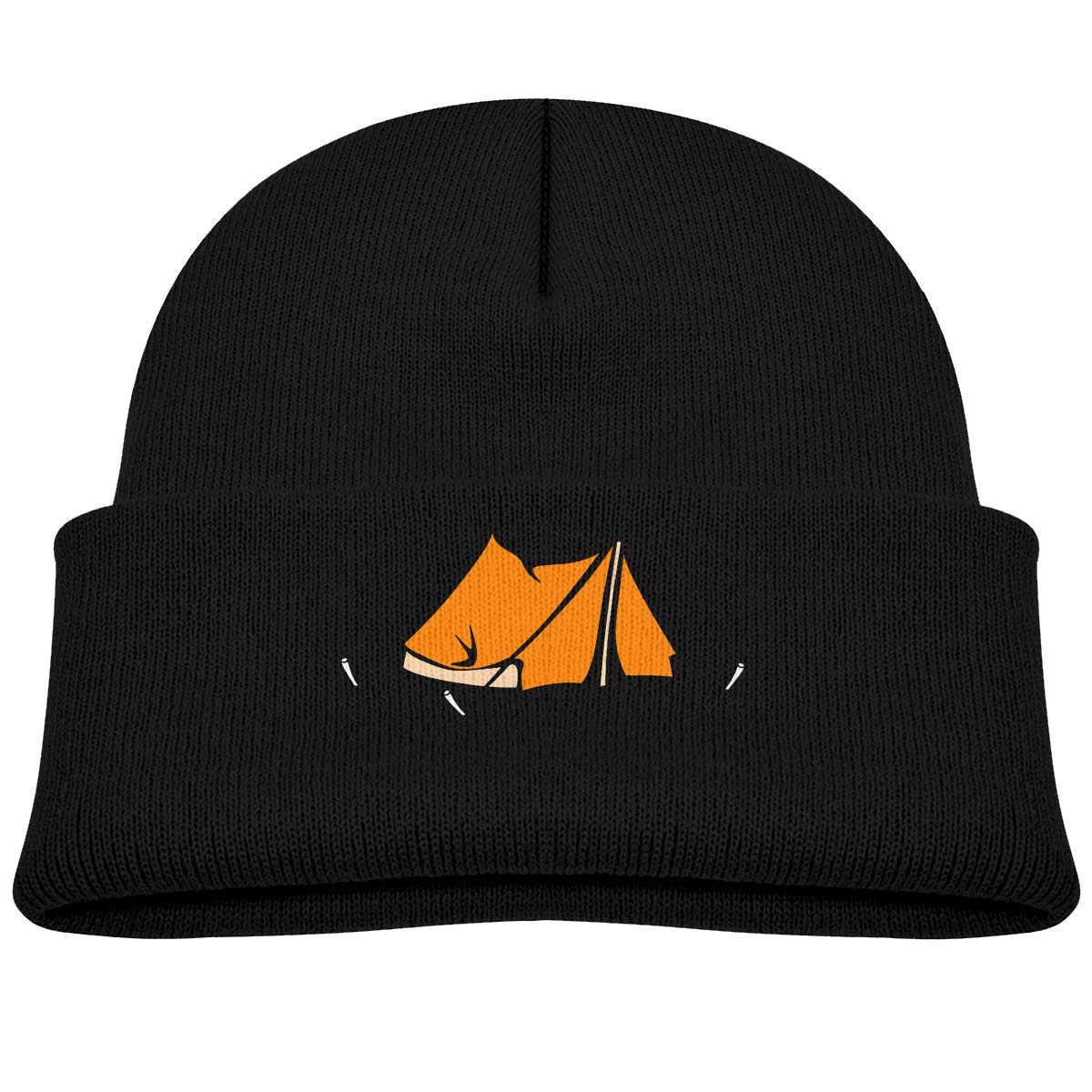 Happy Camper Kids Knitted Beanies Hat Winter Cap Warm Hat