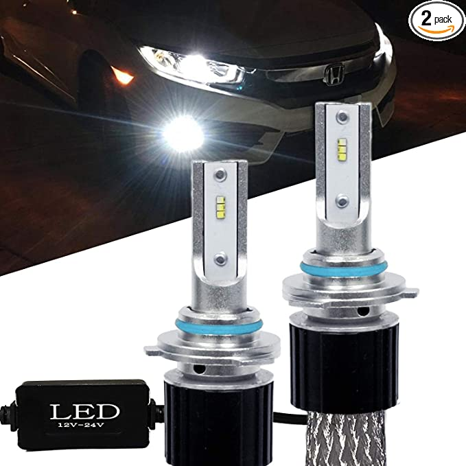 Compact ALL-In-One Design 3000K Golden Yellow SOCAL-LED 2x H10 9005 9145 LED DRL Fog Light Bulb Conversion Kit Extremely Bright CSP 3570