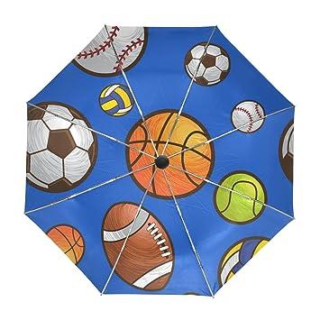 ALAZA Viajes Béisbol Baloncesto Fútbol Paraguas de Apertura automática Cerca de Protección a Prueba de Viento