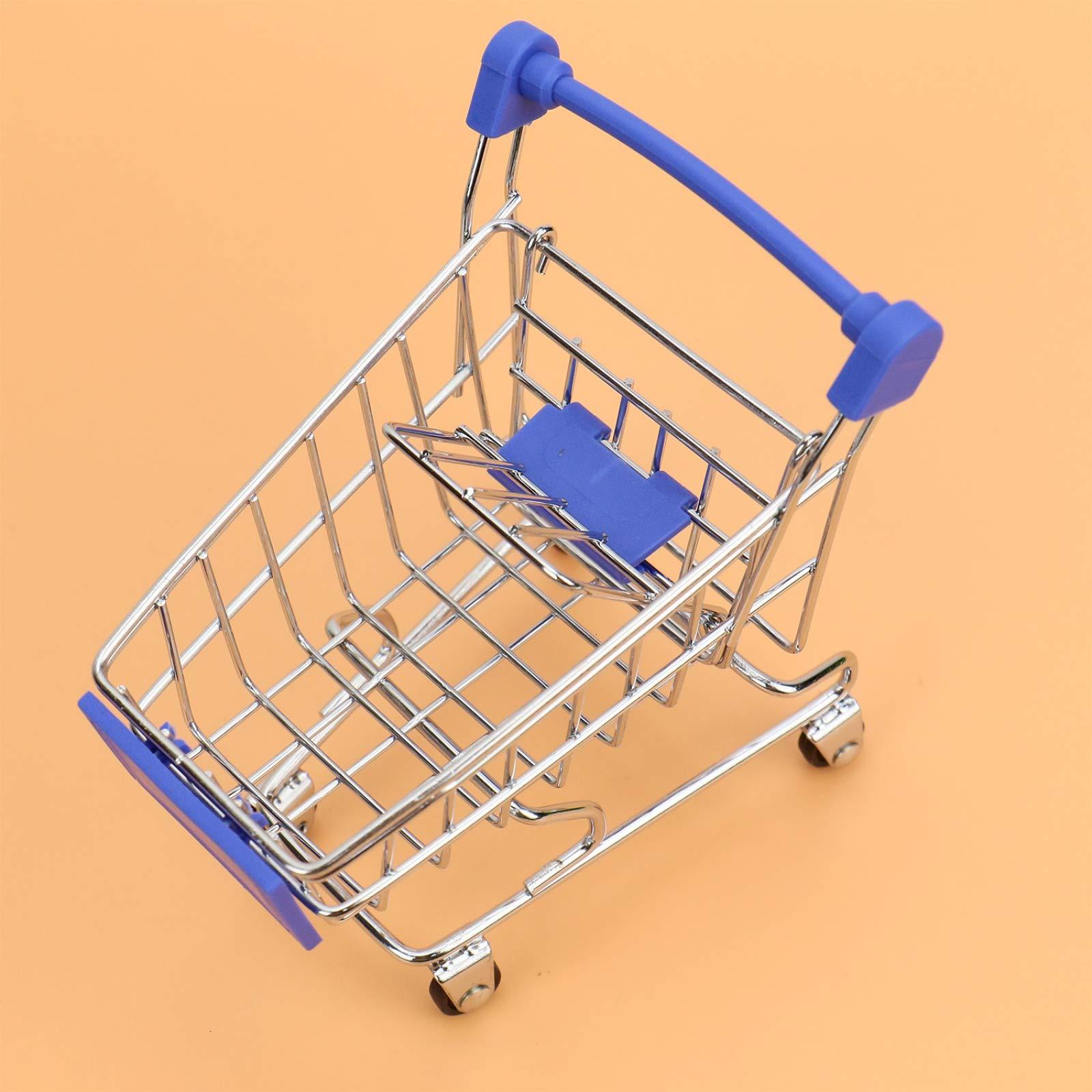 WSSROGY 3 Pack Mini Supermarket Handcart Cart Mode Storage Toy Table Office Novelty Decoration by WSSROGY (Image #3)