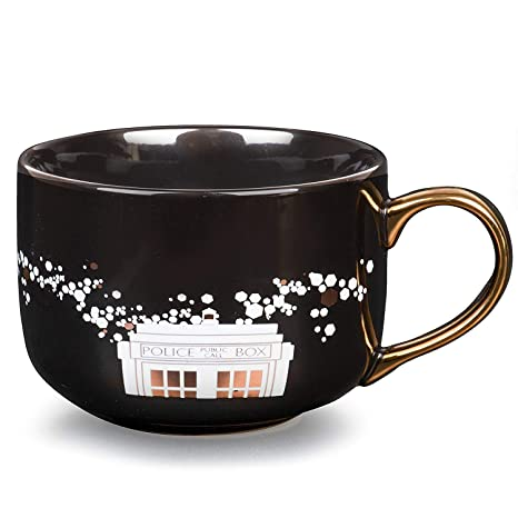 Doctor Police Design Oz Black Pinache Coffee Gold Cute Ceramic Mug Who Box Latte Tardis 16 And KulcTF1J3
