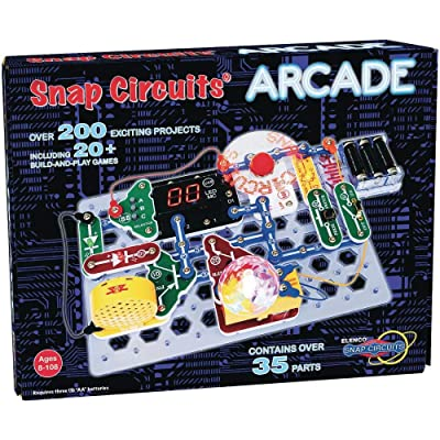 "Snap Circuits ""Arcade"", Electronics Exploration Kit, Stem Activities for Ages 8+, Multicolor (SCA-200): Toys & Games"