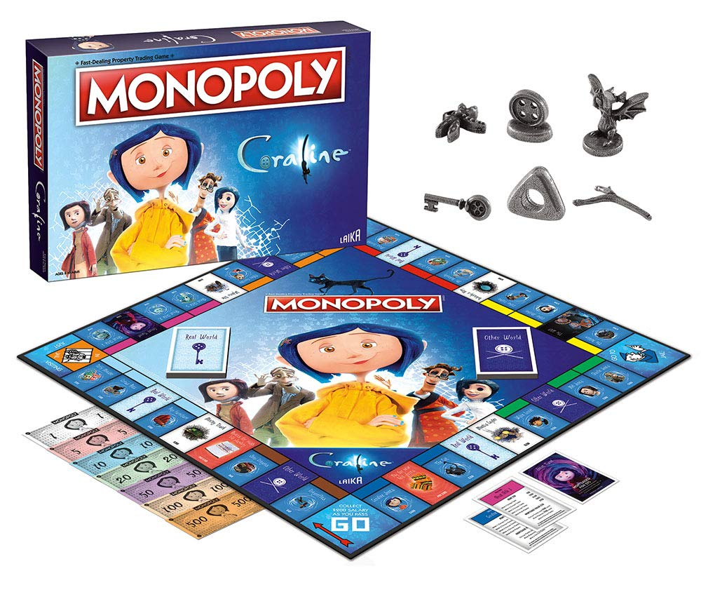 Amazon.com: Monopoly Coraline Juego de tablero de coralina ...