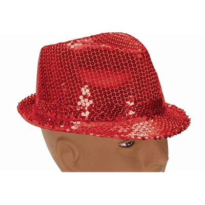 Forum Novelties 66124 Costume Sequin Fedora Hat, Red, One Size: Toys & Games