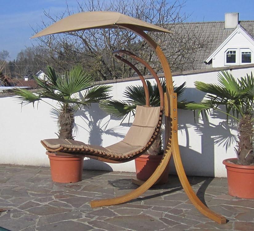 Schwebeliege aus Holz