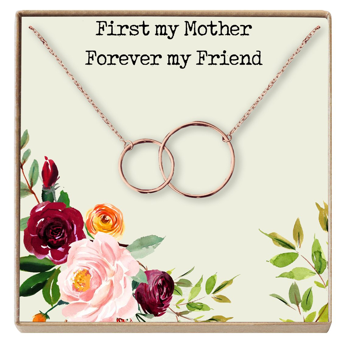 Mothers Day Necklace 2 Interlocking Circles Dear Ava Mother Gift Necklace Mother Daughter Gift