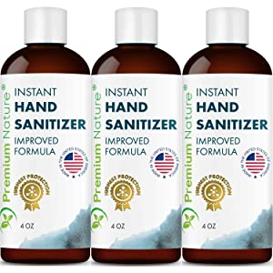 Instant Hand Sanitize Gel - 3 Pack Value Size Advanced Natural Hand...