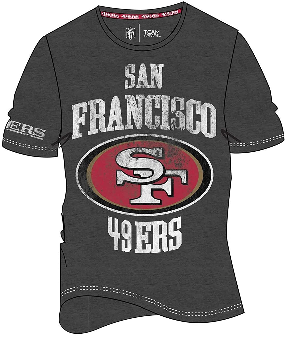 brand new 977a0 14bca Cheap 49ers T Shirts Free Shipping