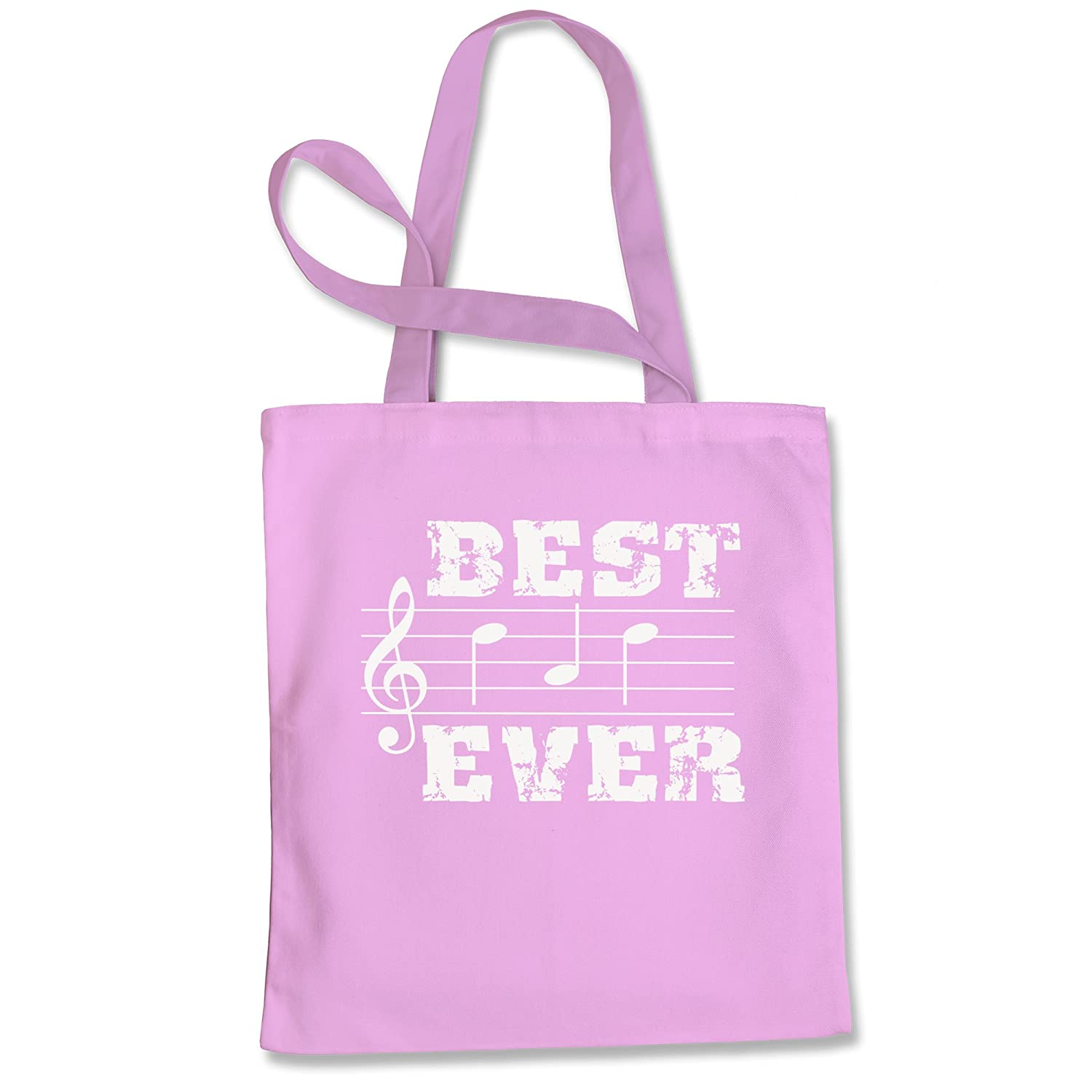 Tote Bag Musical Notes Best Dad Ever Natural Shopping Bag