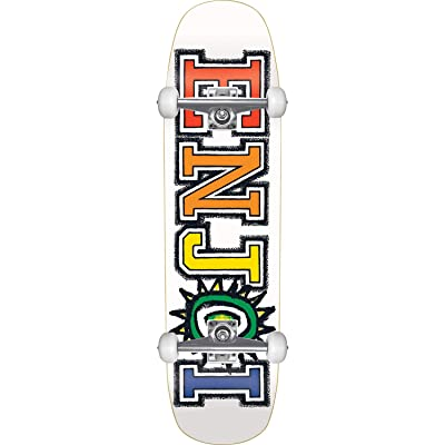 "Enjoi Skateboards What's The Deal White Cruiser Complete Skateboard - 8.5"" x 31"" : Sports & Outdoors"
