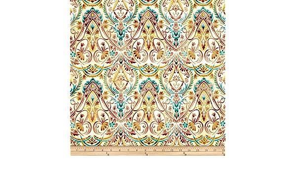 Robert Kaufman Patchwork Fabric Lumina Dawn Floral With Metallic ...