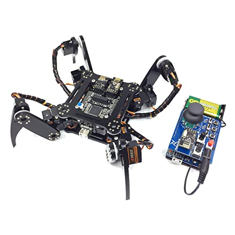Awe Inspiring Freenove Quadruped Robot Kit With Remote Control Compatible With Arduino Raspberry Pi Processing Spider Walking Crawling Steam Stem Project Squirreltailoven Fun Painted Chair Ideas Images Squirreltailovenorg