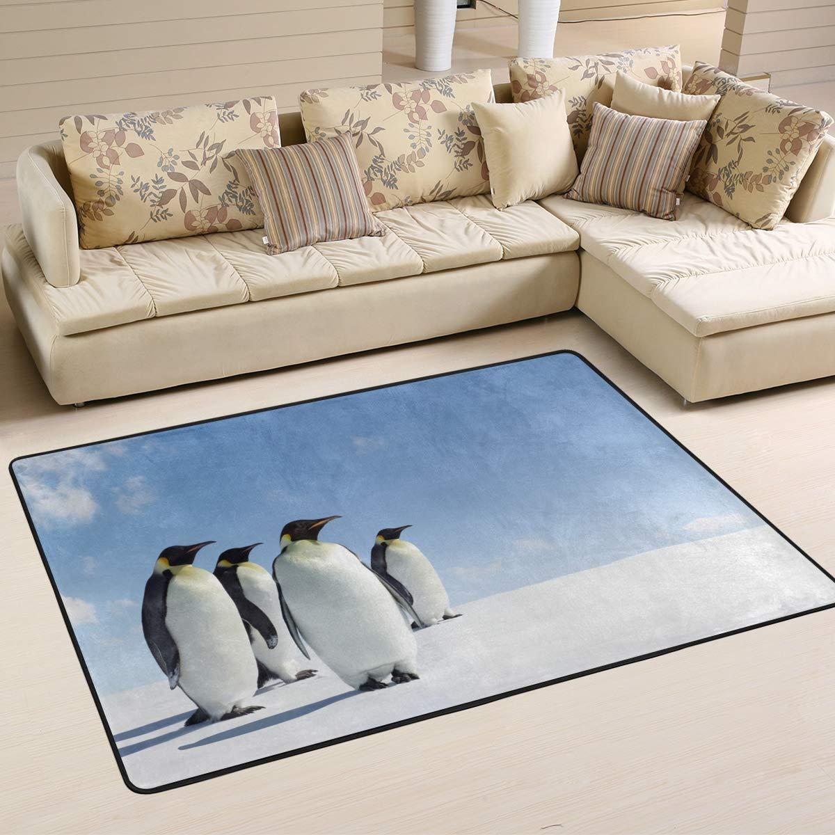 JSTEL Weiche Emperor Pinguine Wohnzimmerteppich, 90 x 60 cm, Multi, 180 x 120 cm