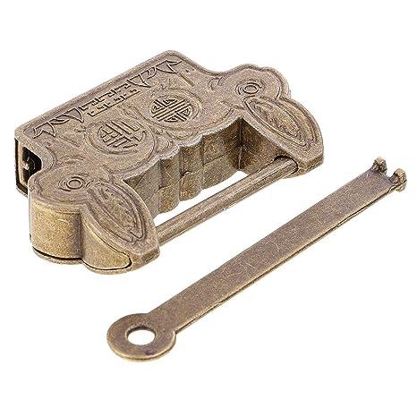 Sharplace Elegante Cerradura de Bloqueo Antiguo Mini Candado de Aleación con Llave Regalo de Novedad