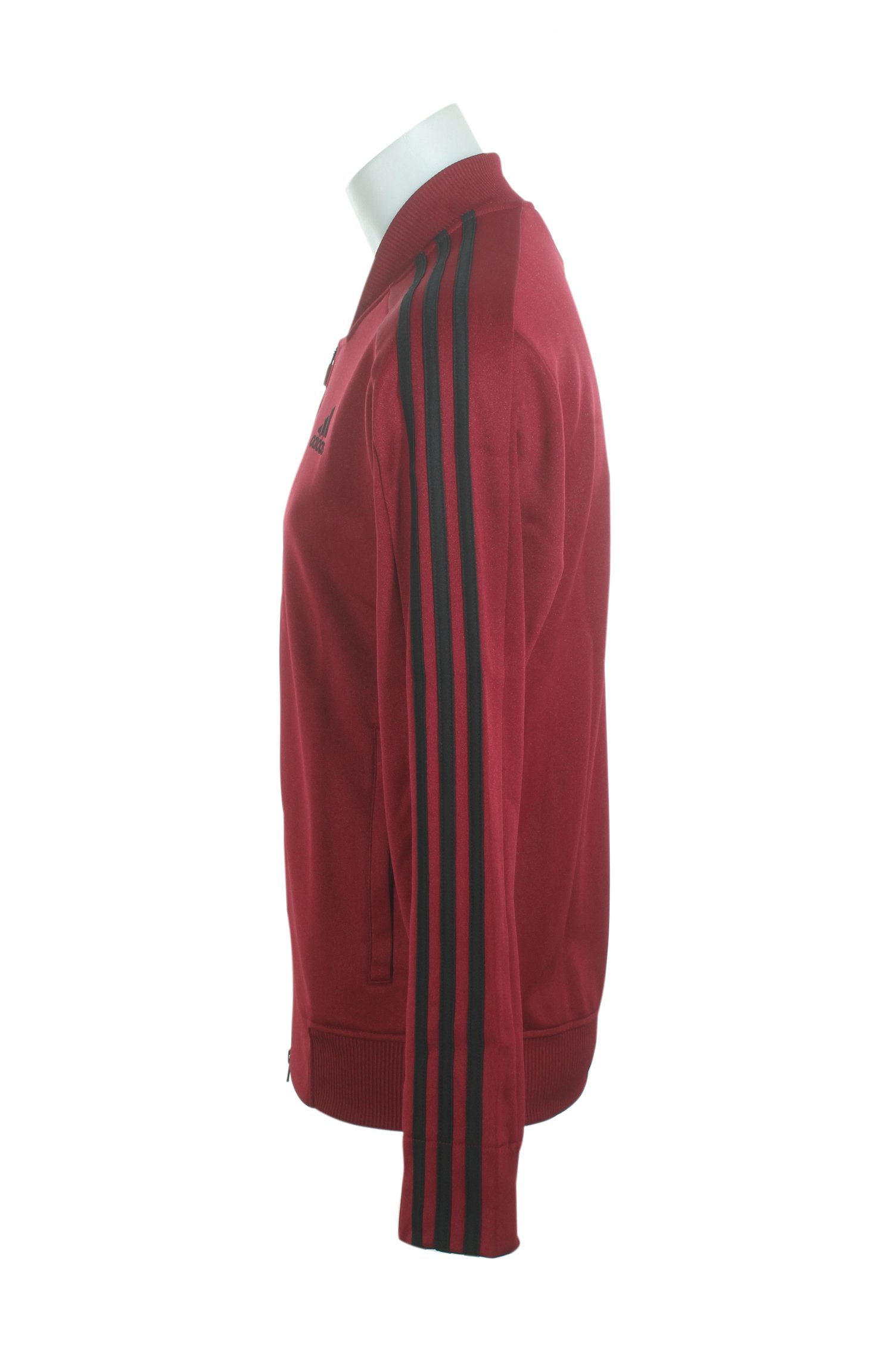 adidas Men's Sport ID Track Bomber Jacket Collegiate Burgundy Small by adidas (Image #2)
