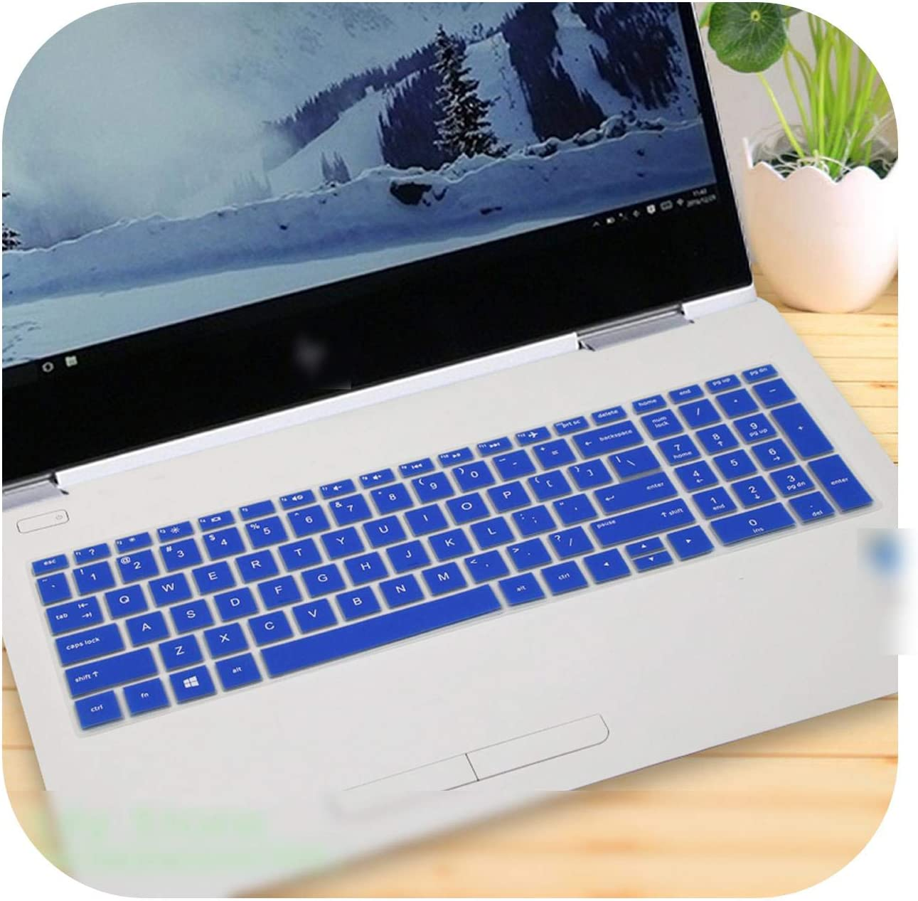Laptop Keyboard Cover Protector for Hp Envy X360 15-Cn0006Tx Cn0007Tx 15-Cn0008Tx Cn0007Na Cn0009X 15-Cn Series Cn1000Ne 15.6''-Blue-