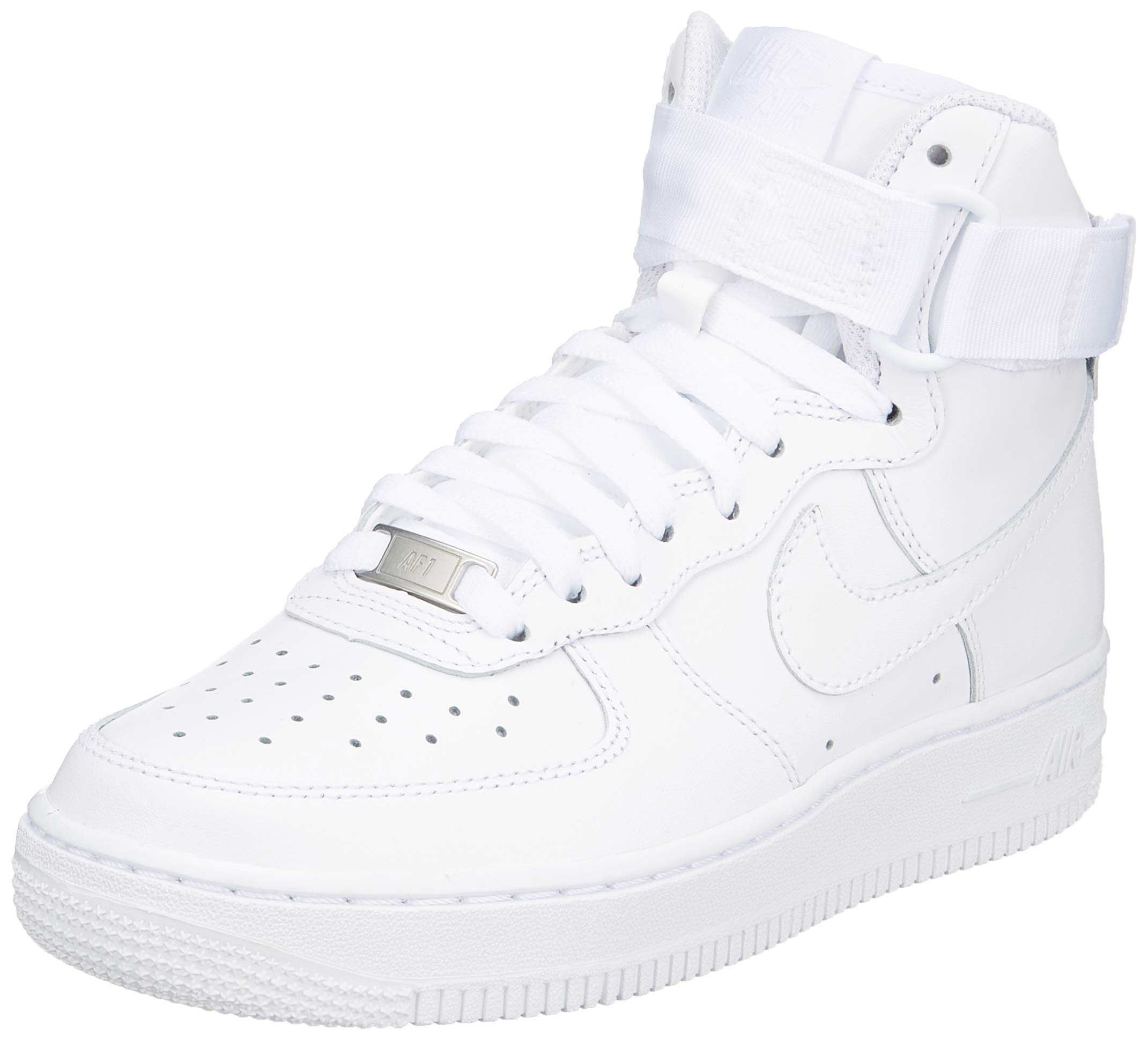 Nike WMNS Air Force 1 High Womens Sneakers 334031-105, White/White-White, Size US 8.5 by Nike