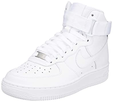 competitive price 32809 adce1 Nike WMNS Air Force 1 High Womens Sneakers 334031-105, White/White-White