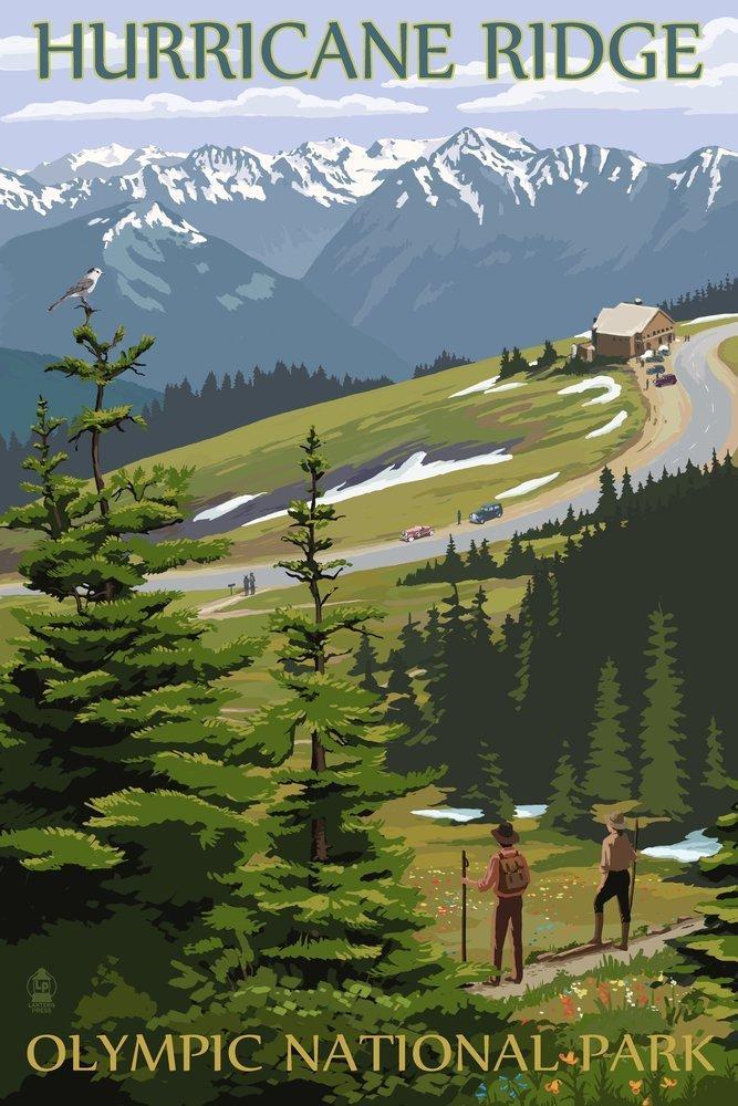 春先取りの Hurricane x Ridge(ハリケーンリッジ) Olympic Giclee National Park(オリンピック国立公園) ワシントン州 Print 壁飾り 24 x 36 Giclee Print LANT-33513-24x36 B00N5CQ8QK 9 x 12 Art Print 9 x 12 Art Print, でん吉:055b809d --- kuoying.net
