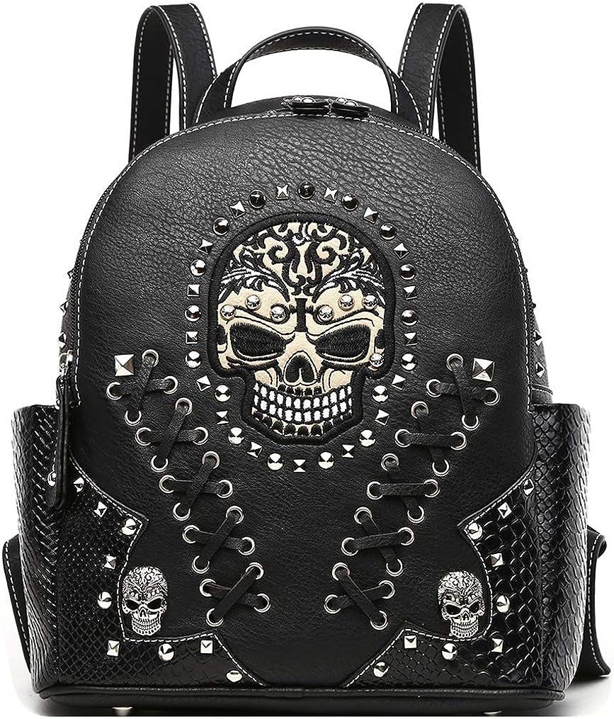 Spiral Shoulder//Bum Bag Skull Wrap Printed Strap Black 33x16cm