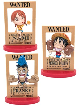 Buy Luffy Nami Franky Straw Hat Pirates Chibi Wanted 7 5cm