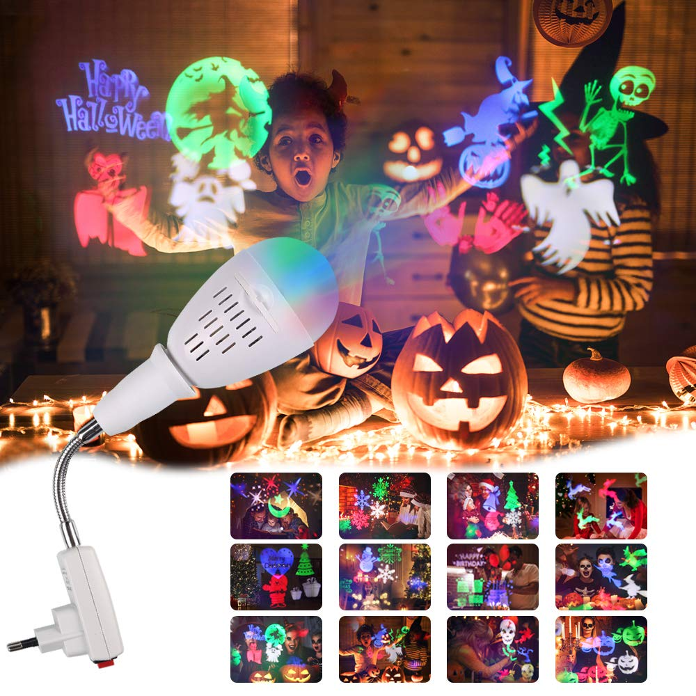 Christmas Projector Lights, InnooLight Waterproof 12 Patterns Light Show, Holiday Lights Decoration for Different Themes- Halloween, Christmas Innoo Tech