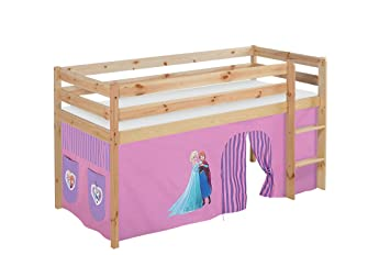 Etagenbett Hochbett Spielbett Kinderbett Jelle 90x200cm Vorhang : Lilokids spielbett jelle eiskönigin hochbett mit vorhang kinderbett