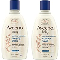 Aveeno Baby Soothing Relief Creamy Wash with Natural Colloidal Oatmeal for Dry & Sensitive Skin, Hypoallergenic & Tear…