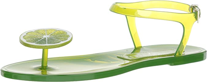 Katy Perry Women's The Geli Flat Sandal, Lime, 5 Medium US