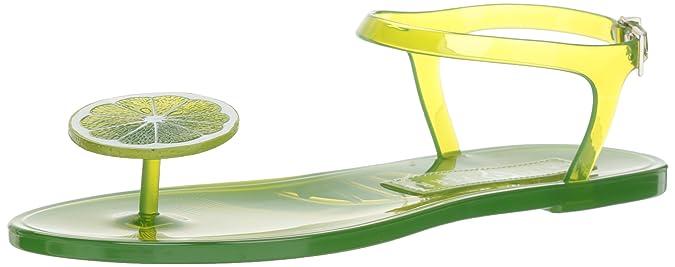 Katy Perry Women's The Geli Flat Sandal, Lime, 5 Medium US