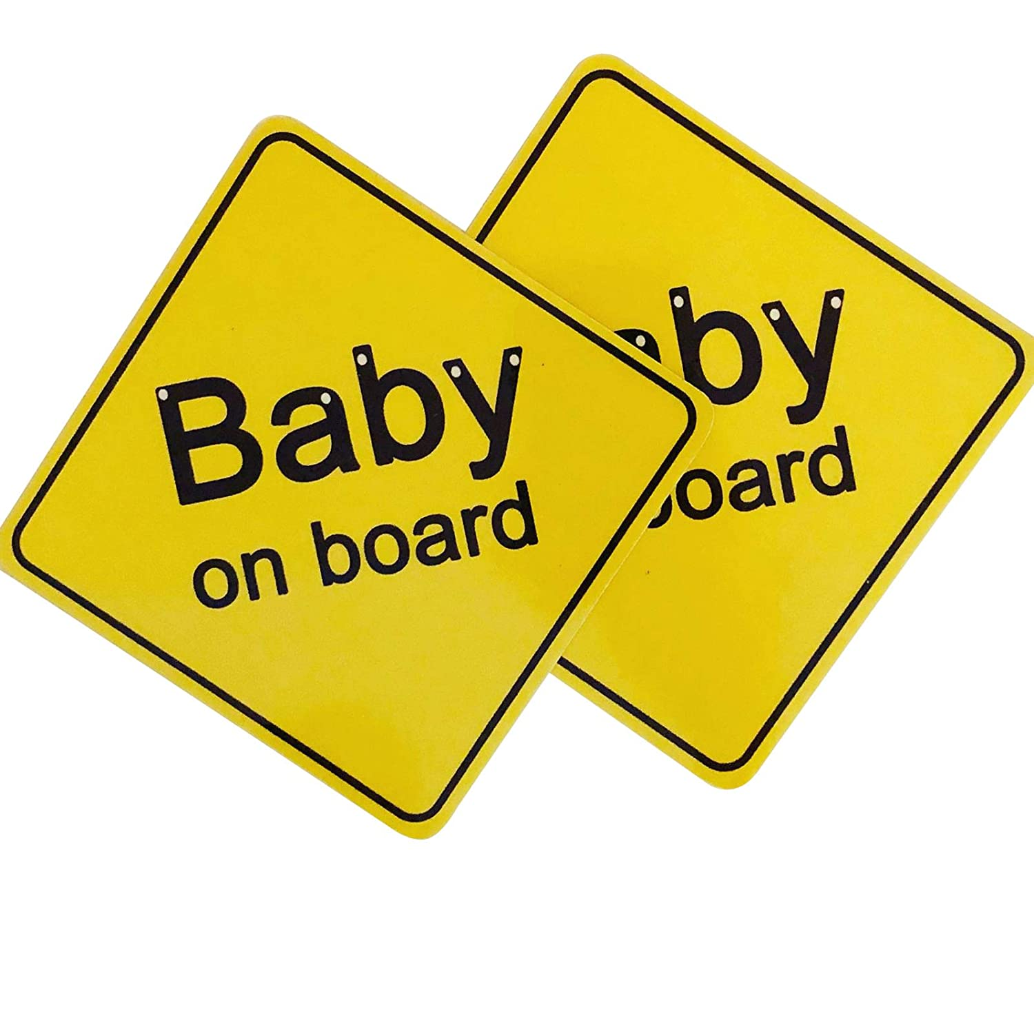 Baby on Board Magnet Car Sign – Drive Safely by Alerting Other Drivers (2 Pack) by Best Magnet
