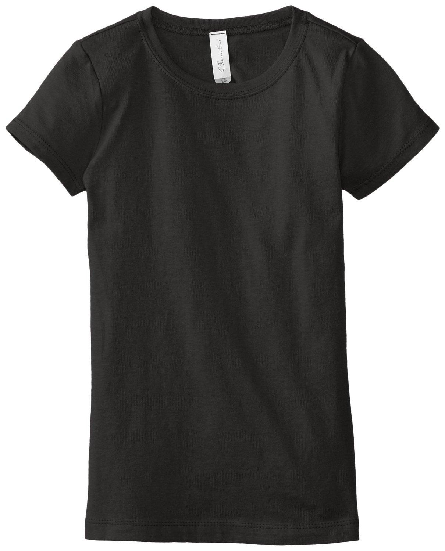 Clementine Big Girls' Everyday T-Shirt, Black, Large(10-12)