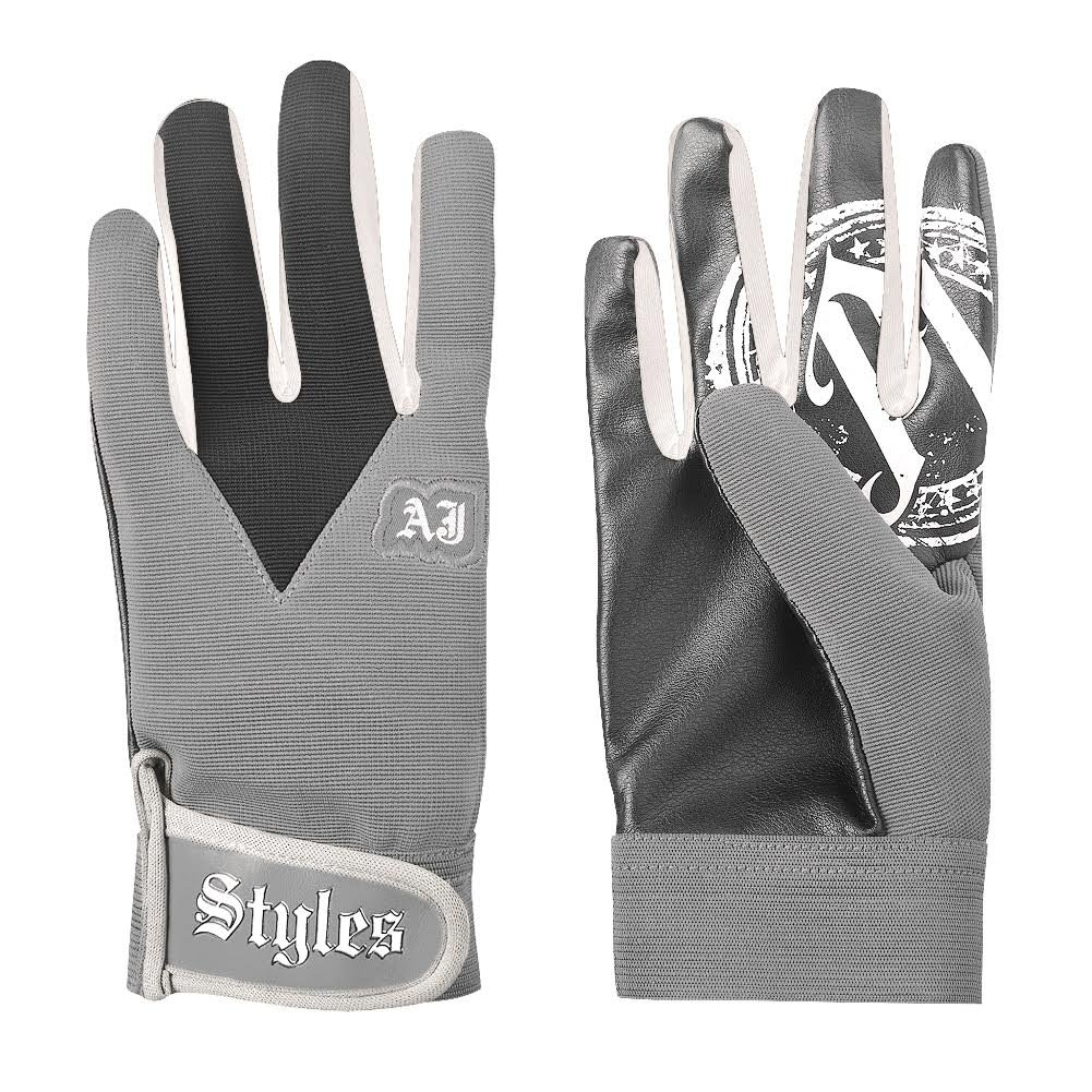 Official WWEShop Authentic WWE AJ Styles Grey Replica Gloves Deep Grey One Size