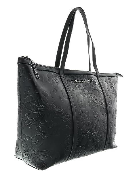 8fcedc8239 Versace Jeans borsa donna nero E1VOBBI9 75571 899 nappa embossata nuova  collezione autunno inverno 2016 2017  Amazon.it  Scarpe e borse