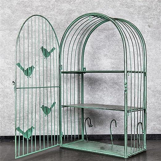 TRRE@ Estantes Retros de la Jaula de pájaro del Hierro, decoración ...