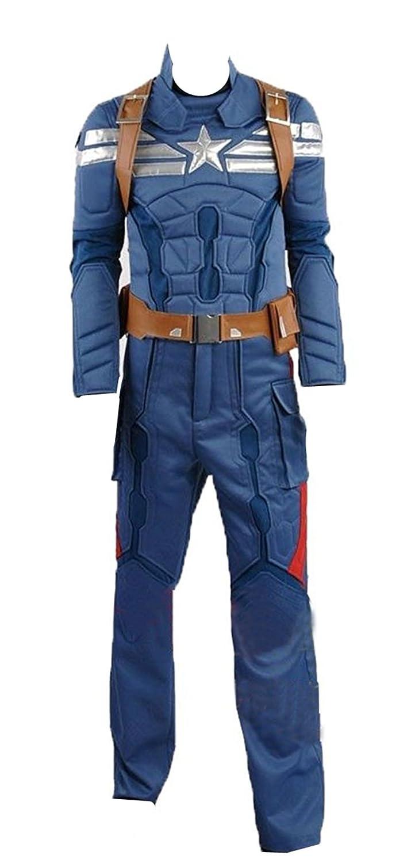 Captain America 2  Winter Soldier Steve Rogers azzurro version Cosplay costume